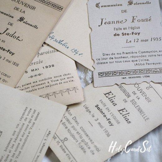 フランス蚤の市より 1930年代 アンティーク 教会 ホーリーカード 【6枚セット】【画像7】