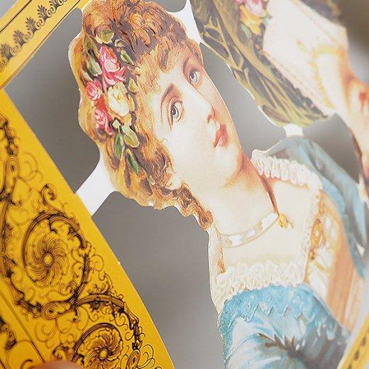 イギリス クロモス【M】( ビクトリアン 花飾り )【画像4】