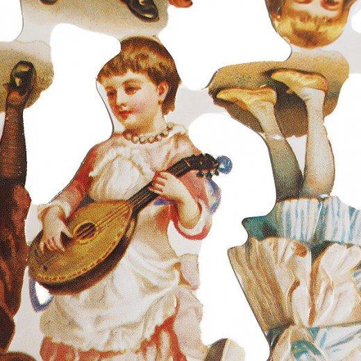 イギリス クロモス【M】(幼子と楽器)【画像4】