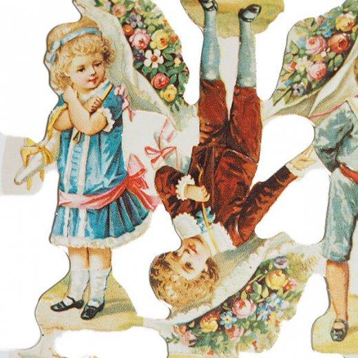 イギリス クロモス【M】(幼子と花束)【画像2】