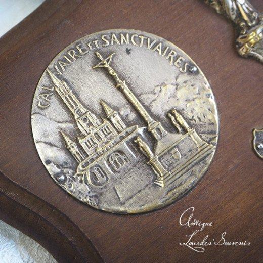 【送料無料】フランス ルルドの泉 19世紀後半〜20世紀初頭 アンティーク オラトリー ウッドスタンド【ルルドのサンクチュアリ バジリカ聖堂 】【画像4】