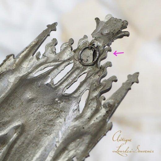 【送料無料】フランス ルルドの泉 19世紀後半〜20世紀初頭  アンティーク 聖水盤【 聖母マリア 】【画像4】