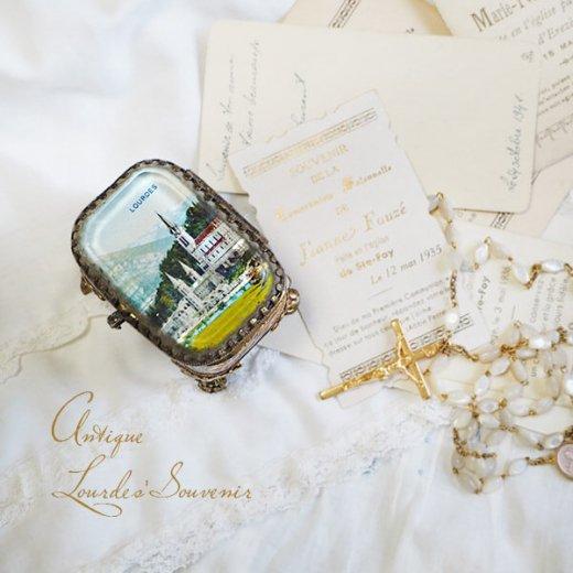 フランス ルルドの泉 アンティーク ジュエリーボックス【 バジリカ聖堂 】【画像2】