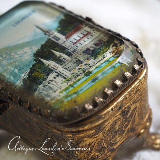 フランス ルルドの泉 アンティーク ジュエリーボックス【 バジリカ聖堂 】【画像6】