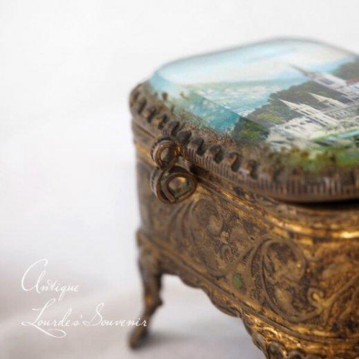 フランス ルルドの泉 アンティーク ジュエリーボックス【 バジリカ聖堂 】【画像9】