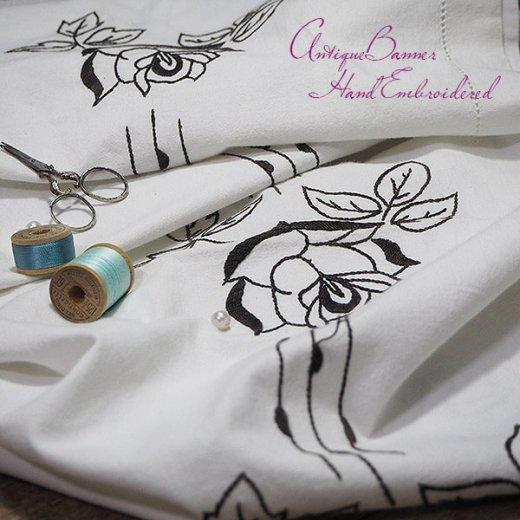 ベルギー 1900年代 アンティーク 薔薇 聖母マリア ゴシック 手刺繍 教会【画像6】