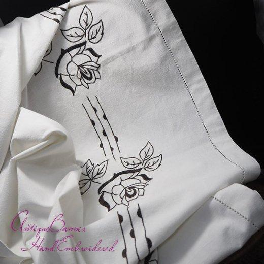 ベルギー 1900年代 アンティーク 薔薇 聖母マリア ゴシック 手刺繍 教会【画像8】