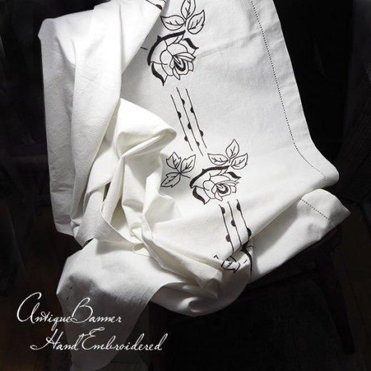 ベルギー 1900年代 アンティーク 薔薇 聖母マリア ゴシック 手刺繍 教会【画像9】