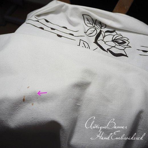 ベルギー 1900年代 アンティーク 薔薇 聖母マリア ゴシック 手刺繍 教会【画像10】