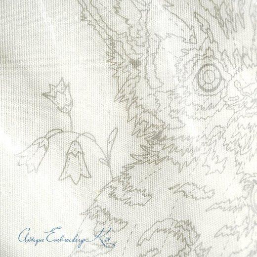 USA 1979年 ヴィンテージ 刺しゅうキット ネコ キャット柄【ベース生地・針2本・刺繍糸】【画像5】