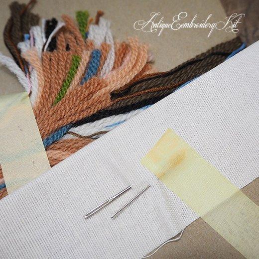 USA 1979年 ヴィンテージ 刺しゅうキット ネコ キャット柄【ベース生地・針2本・刺繍糸】【画像7】