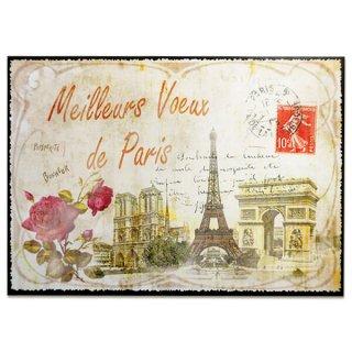 新着商品  フランス ポストカード エッフェル塔 凱旋門 ノートルダム大聖堂 バラ(meilleurs voeux de paris)
