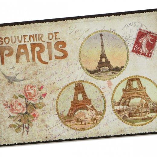 フランス ポストカード エッフェル塔 バラ(souvenir de paris)【画像2】