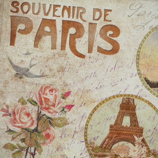 フランス ポストカード エッフェル塔 バラ(souvenir de paris)【画像3】