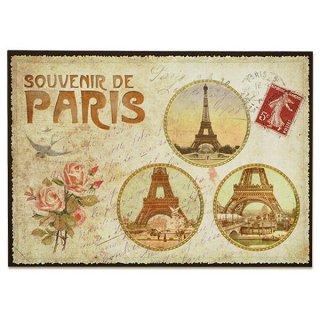 フランス ポストカード エッフェル塔 バラ(souvenir de paris)