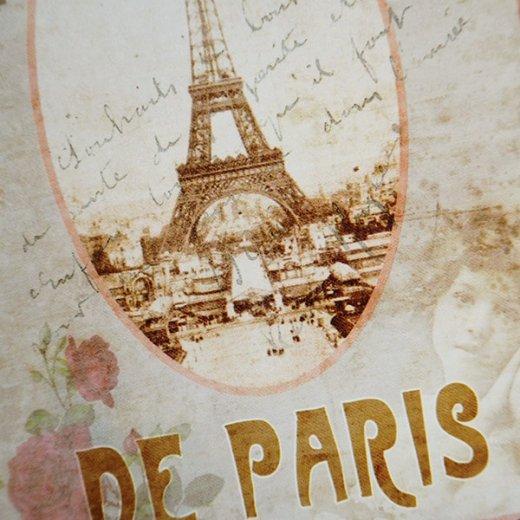フランス ポストカード エッフェル塔 幸福のベル バラ(meilleurs voeux de paris)【画像3】