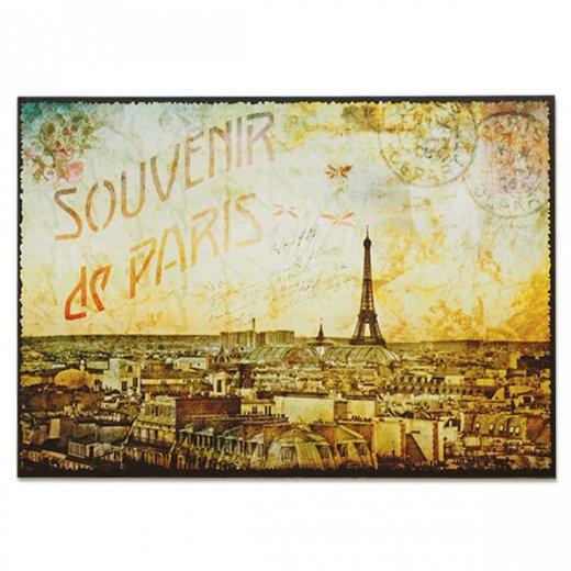 フランス ポストカード エッフェル塔 パリの街並 バラ(souvenir de paris)
