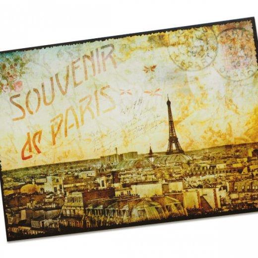 フランス ポストカード エッフェル塔 パリの街並 バラ(souvenir de paris)【画像2】