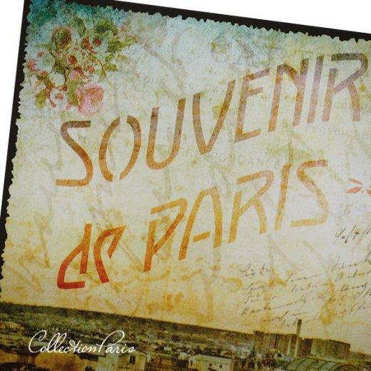 フランス ポストカード エッフェル塔 パリの街並 バラ(souvenir de paris)【画像3】