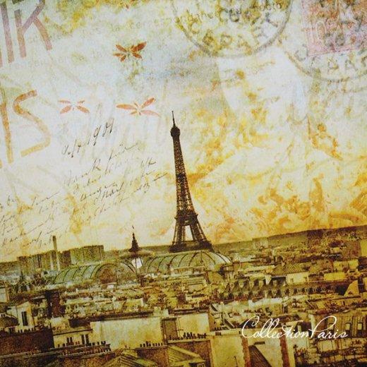 フランス ポストカード エッフェル塔 パリの街並 バラ(souvenir de paris)【画像4】