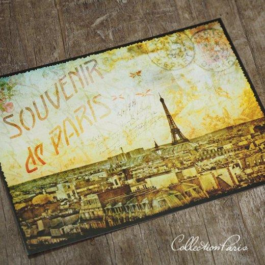 フランス ポストカード エッフェル塔 パリの街並 バラ(souvenir de paris)【画像6】