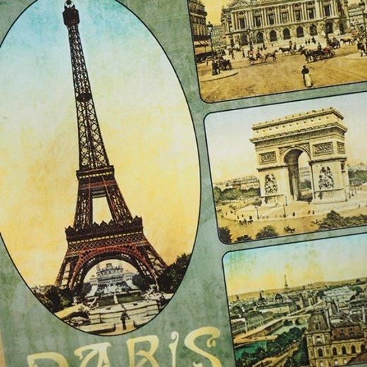 フランス ポストカード エッフェル塔 オペラ座 凱旋門 ノートルダム大聖堂 セーヌ川(Paris multivues)【画像3】