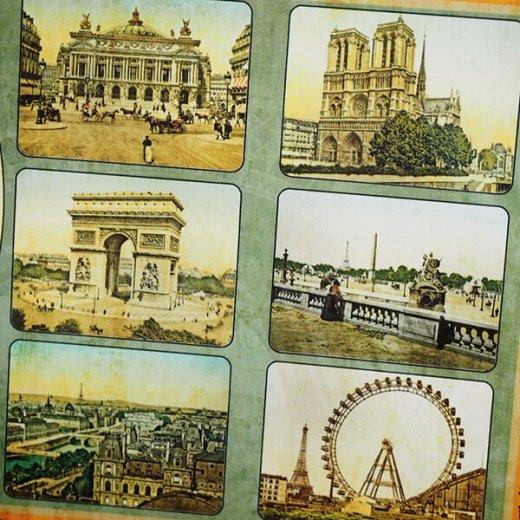 フランス ポストカード エッフェル塔 オペラ座 凱旋門 ノートルダム大聖堂 セーヌ川(Paris multivues)【画像4】