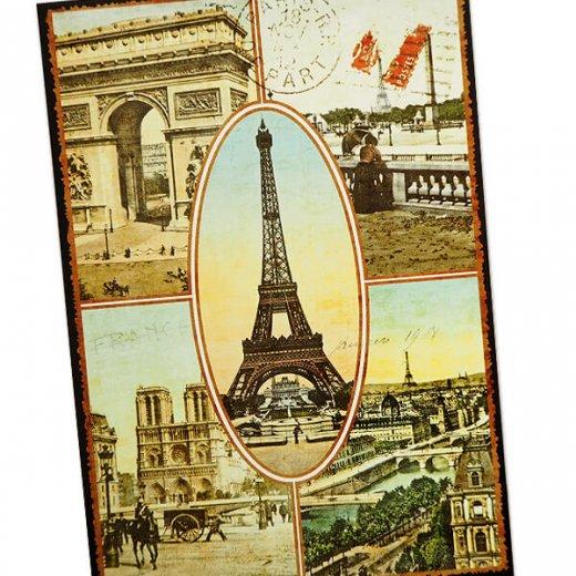 フランス ポストカード エッフェル塔 凱旋門 ノートルダム大聖堂 セーヌ川 コンコルド広場(Paris multivues)【画像2】