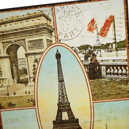 フランス ポストカード エッフェル塔 凱旋門 ノートルダム大聖堂 セーヌ川 コンコルド広場(Paris multivues)【画像3】