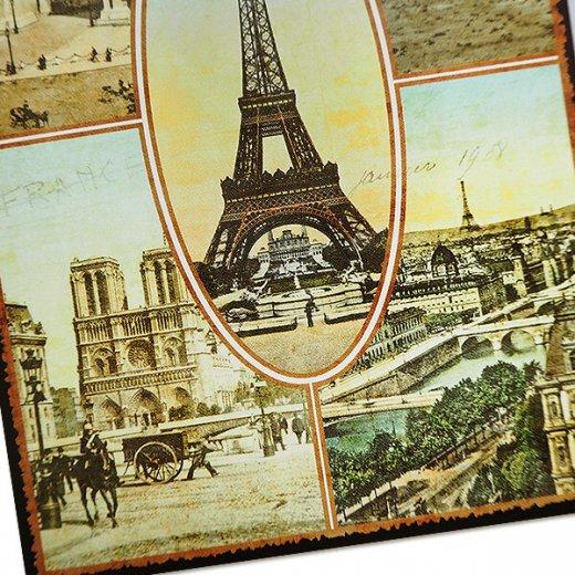 フランス ポストカード エッフェル塔 凱旋門 ノートルダム大聖堂 セーヌ川 コンコルド広場(Paris multivues)【画像4】