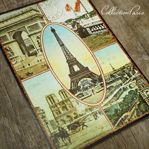 フランス ポストカード エッフェル塔 凱旋門 ノートルダム大聖堂 セーヌ川 コンコルド広場(Paris multivues)【画像6】