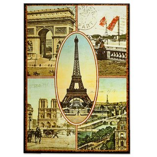新着商品  フランス ポストカード エッフェル塔 凱旋門 ノートルダム大聖堂 セーヌ川 コンコルド広場(Paris multivues)