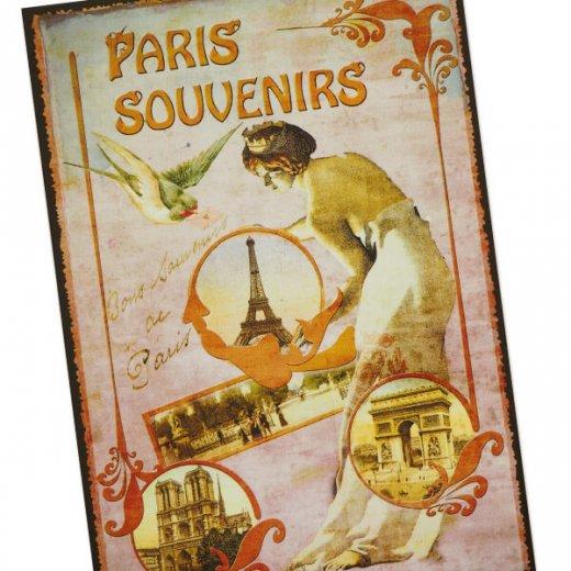 フランス ポストカード エッフェル塔 青い鳥 王冠 少女(paris souvenirs)【画像3】