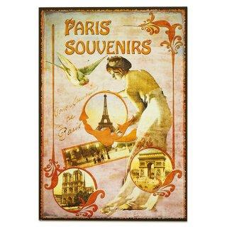 新着商品  フランス ポストカード エッフェル塔 青い鳥 王冠 少女(paris souvenirs)
