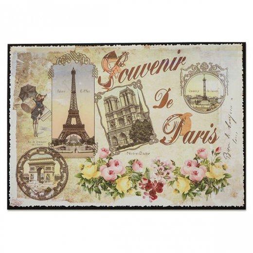 フランス ポストカード エッフェル塔 凱旋門 ノートルダム大聖堂 コンコルド広場 バラ(souvenir de paris)