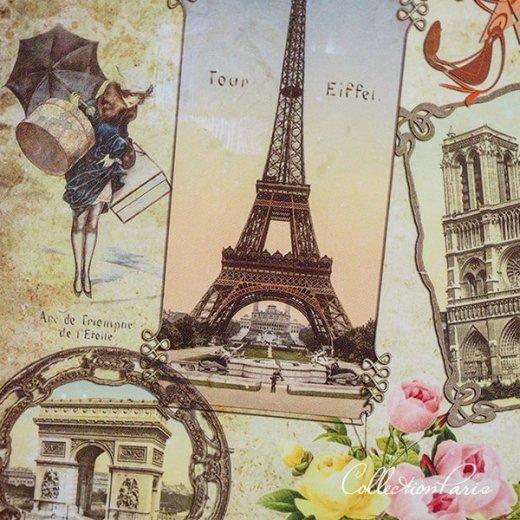 フランス ポストカード エッフェル塔 凱旋門 ノートルダム大聖堂 コンコルド広場 バラ(souvenir de paris)【画像2】
