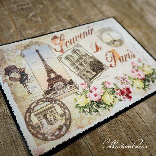 フランス ポストカード エッフェル塔 凱旋門 ノートルダム大聖堂 コンコルド広場 バラ(souvenir de paris)【画像6】