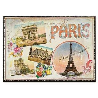 フランス ポストカード エッフェル塔 凱旋門 ノートルダム大聖堂 オペラ座 バラ(paris)