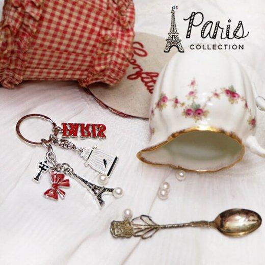 フランス 輸入キーホルダー エッフェル塔 リボン 街頭 PARISロゴ 鳥かご【PARISコレクション】【画像5】