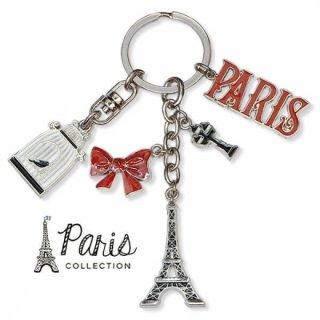 フランス 輸入キーホルダー エッフェル塔 リボン 街頭 PARISロゴ 鳥かご【PARISコレクション】
