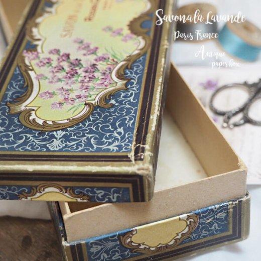 フランス 1930-40年代 アンティーク ロジェガレ ラベンダー 石鹸 紙箱 サボンケース【画像7】