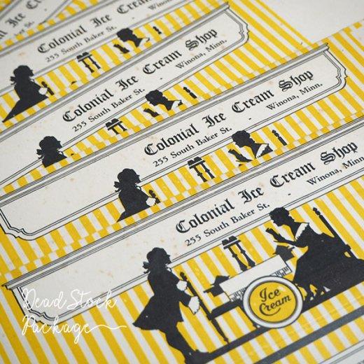 1934年 デッドストック シルエット柄 パッケージ【アイスクリーム】【画像2】