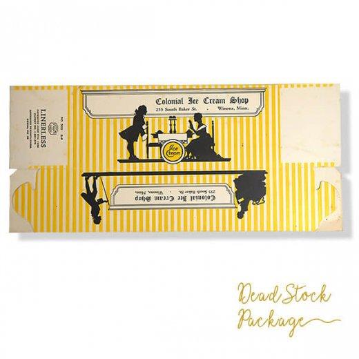 1934年 デッドストック シルエット柄 パッケージ【アイスクリーム】【画像3】