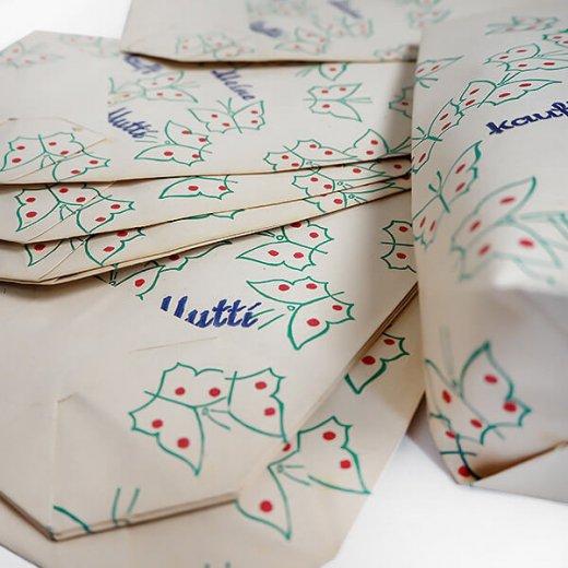 マルシェ袋  【単品】ヴィンテージ DDR時代  バタフライ ちょうちょ ドイツ 海外市場の紙袋 22×14cm【画像3】
