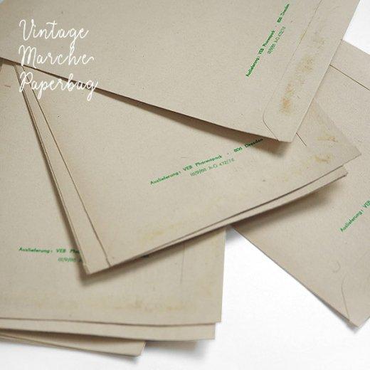 マルシェ袋【単品】ヴィンテージ DDR時代  カモミール ドイツ 海外市場の紙袋 18.5×10.5cm【画像3】