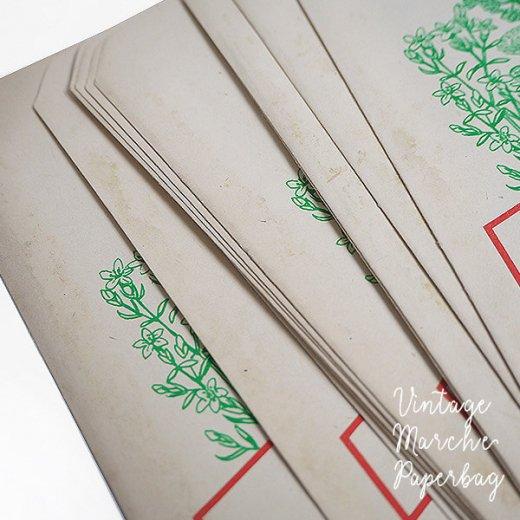 マルシェ袋【単品】ヴィンテージ DDR時代  カモミール ドイツ 海外市場の紙袋 18.5×10.5cm【画像4】