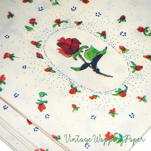 ドイツ 【単品】ラッピング包装紙 56×84cm DDR時代(旧東ドイツ)【ローズ 薔薇】【画像4】