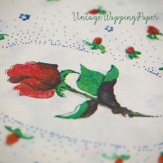 ドイツ 【単品】ローズラッピング包装紙A 56×84cm DDR時代(旧東ドイツ)【ローズ 薔薇】【画像6】