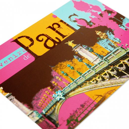 フランス ポストカード セーヌ川 アレクサンドル3世橋(Paris de mon coeur)【画像2】