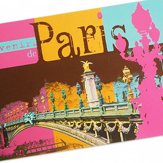 フランス ポストカード セーヌ川 アレクサンドル3世橋(Paris de mon coeur)【画像3】